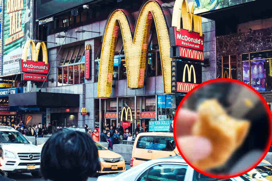 Frau beißt auf McDonald's-Burger und erlebt böse Überraschung