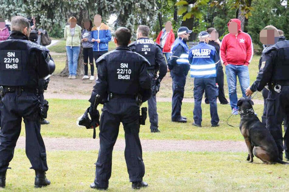 Auch im September kam es auf einer Demonstration in Wurzen zu Zwischenfällen.