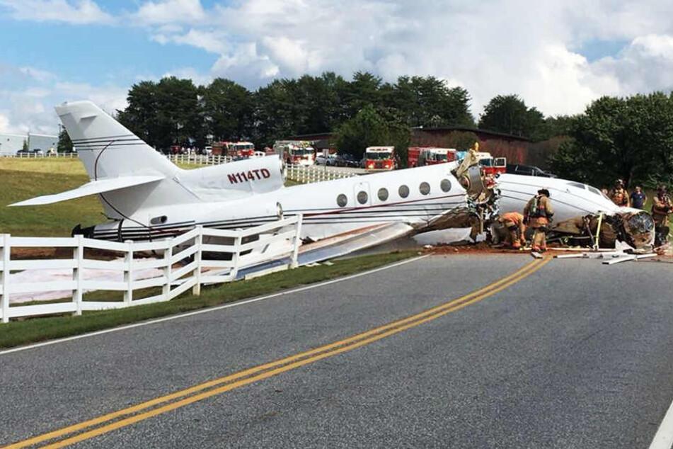 Beim Absturz eines Privatjets im US-amerikanischen Bundesstaat South Carolina sind zwei Menschen ums Leben gekommen.