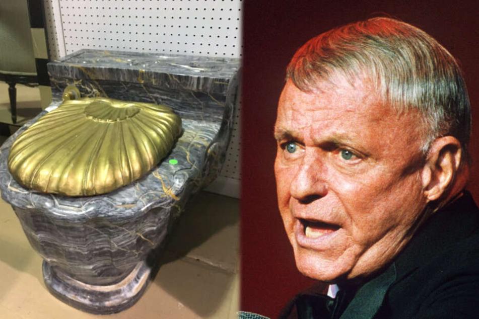 Goldene Toiletten von Frank Sinatra versteigert
