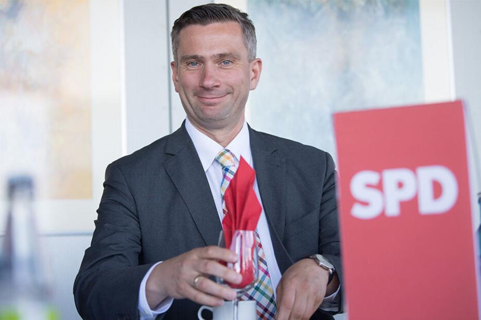 SPD-Spitzenkandidat Martin Dulig (45) setzt auf Promis.