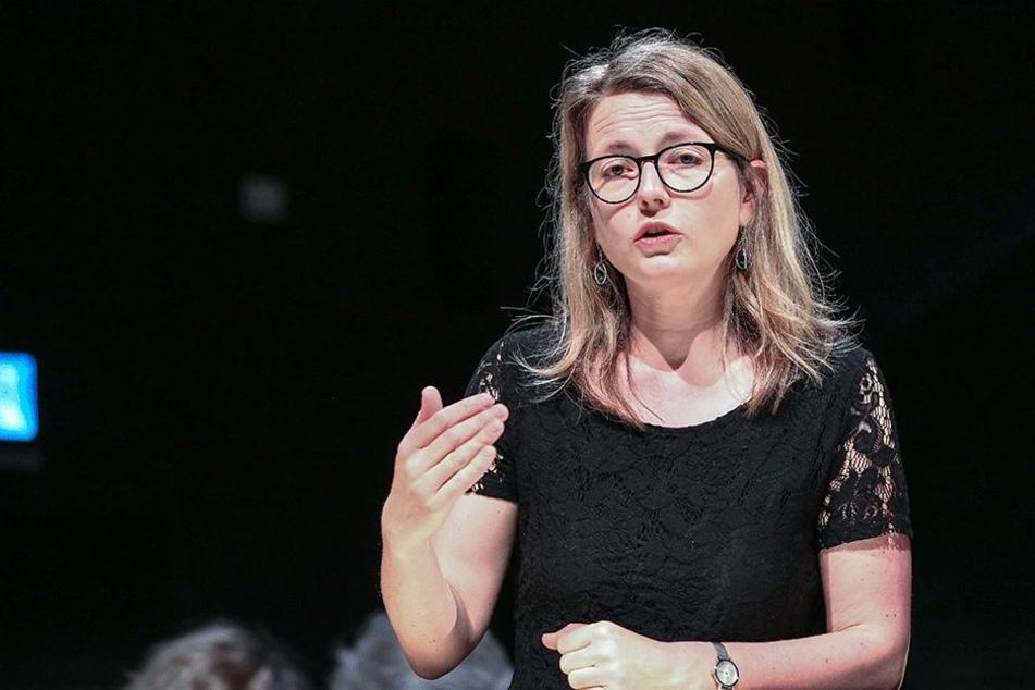 Annekatrin Klepsch (Linke, 41).