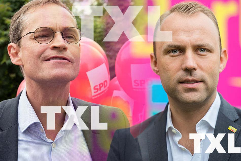 Berlins Regierender Bürgermeister, Michael Müller, versus Vorsitzender der FDP-Fraktin Berlin, Sebastian Czaja. (Bildmontage)