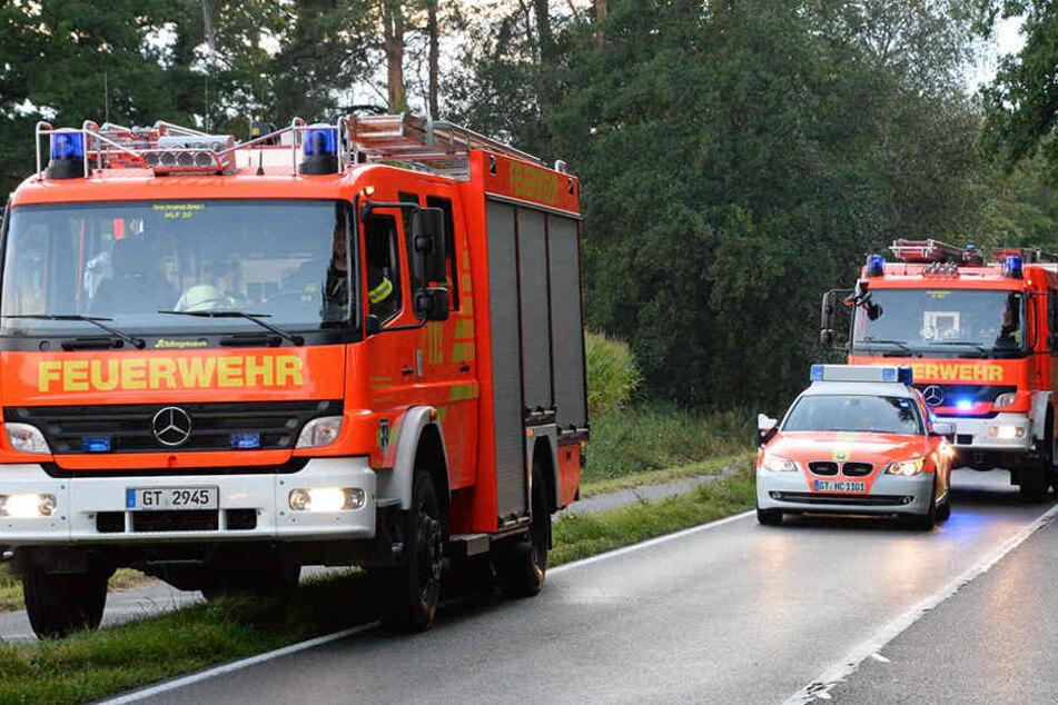 Die Feuerwehr und mehrere Rettungswagen waren zur Unfallstelle gekommen.