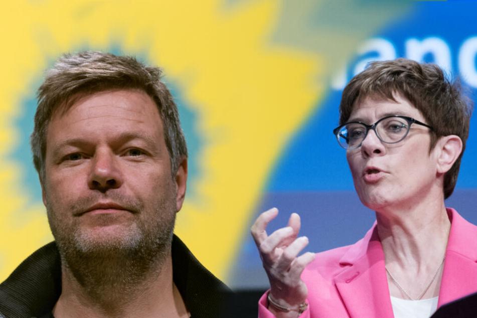 Linke Regierung? AKK warnt Wähler vor den Grünen