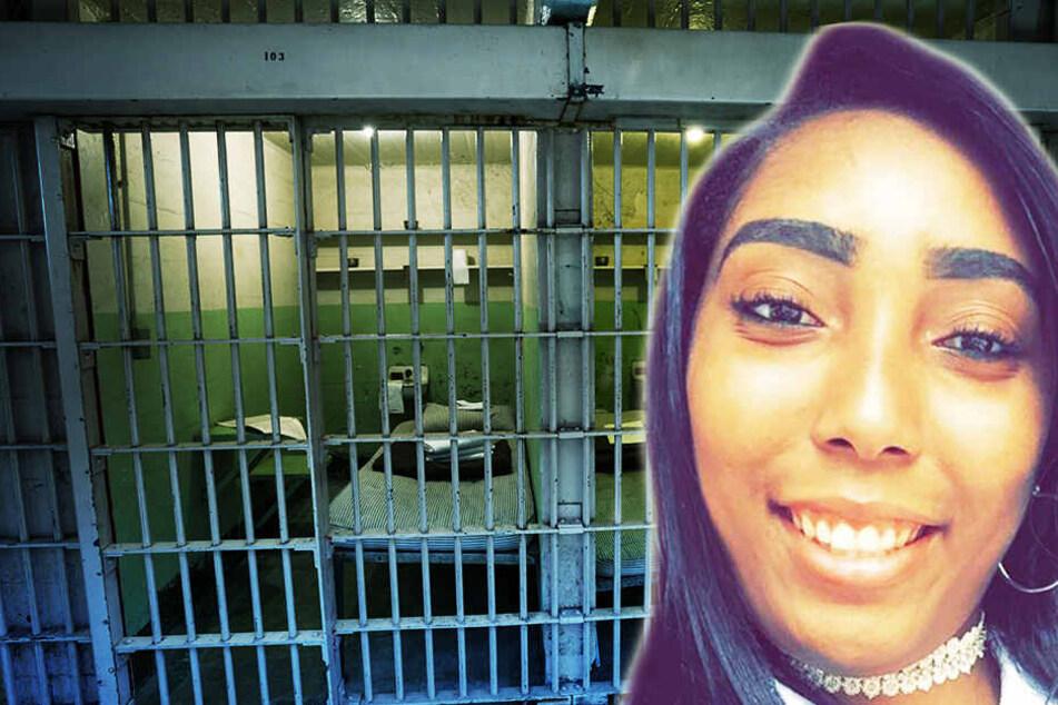 Latoni Daniel (26) erwartet in einem Gefängnis im US-amerikanischen Bundesstaat Alabama ihr erstes Kind. (Fotomontage)