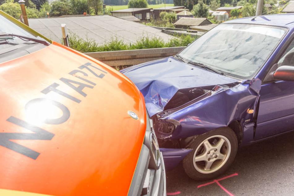Der Toyota-Fahrer hatte den Krankenwagen übersehen, als dieser überholen wollte.