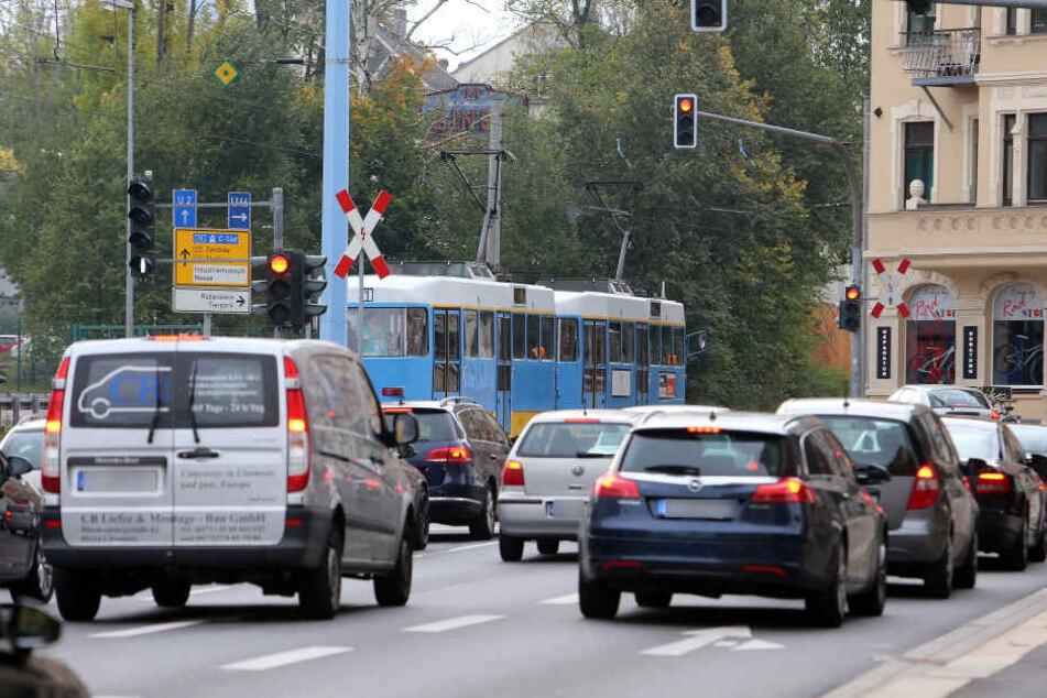 Seit Juni ist die Zwickauer Straße an der Kappler Drehe / Industriemuseum ein Nadelöhr.