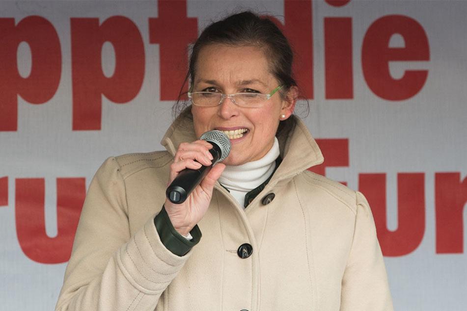 Frontfrau Tatjana Festerling wurde in Amsterdam gemeinsam mit Pegida-Frontmann Edwin Wagensveld festgenommen.