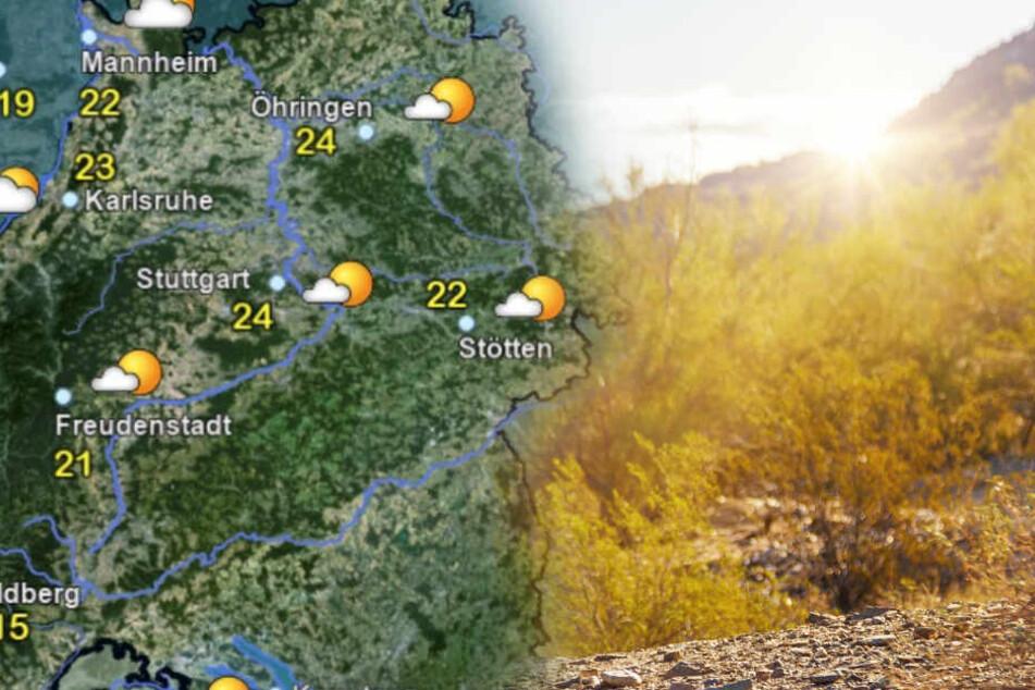 Das Wetter im Ländle. (Fotomontage)