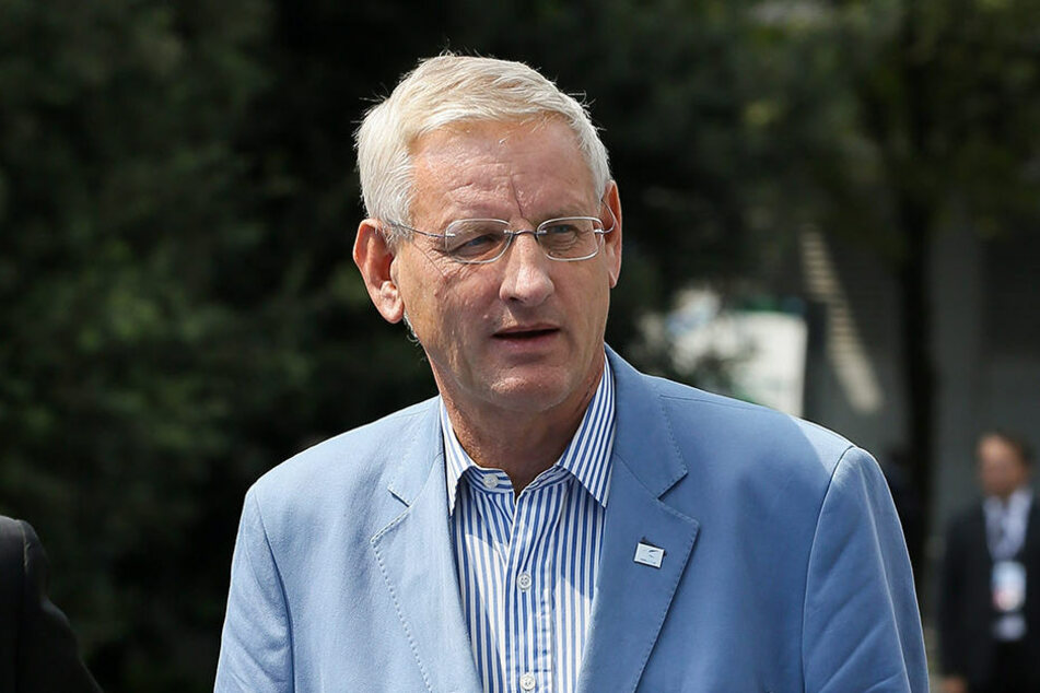 Schwedens Ex-Außenminister Carl Bildt reagierte auf Twitter auf Trumps Rede.