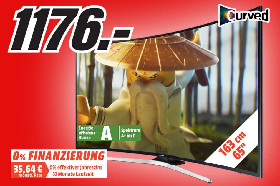 Tolles Design und super Preis: Nur 1.176 Euro für diesen Curved-TV von Samsung.