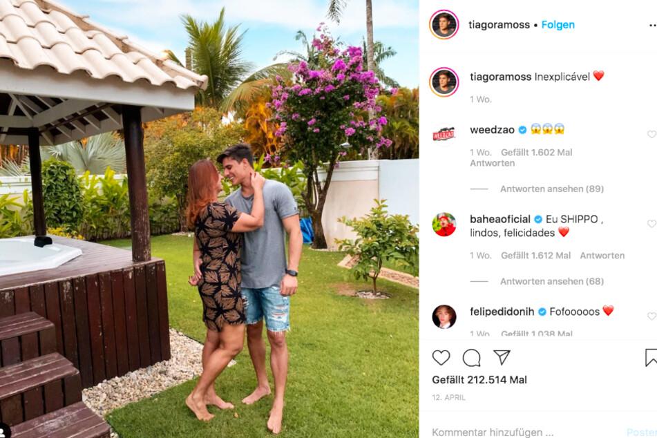 Tiago Ramos (23) und Neymars Mutter Nadine Goncalves (52) frisch verliebt.
