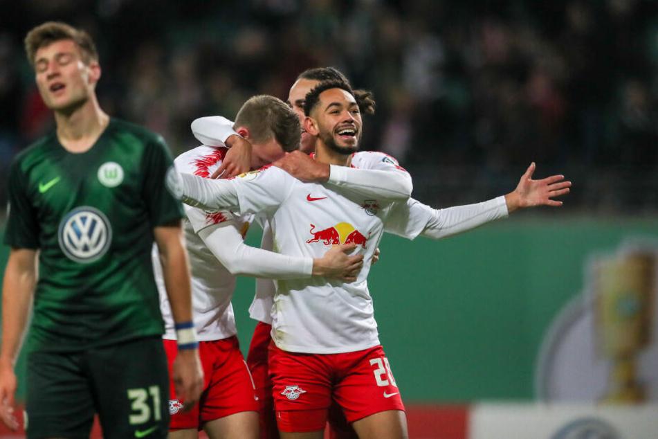 Im DFB-Pokal konnte sich RB mit einem 1:0 gegen Wolfsburg durchsetzen.