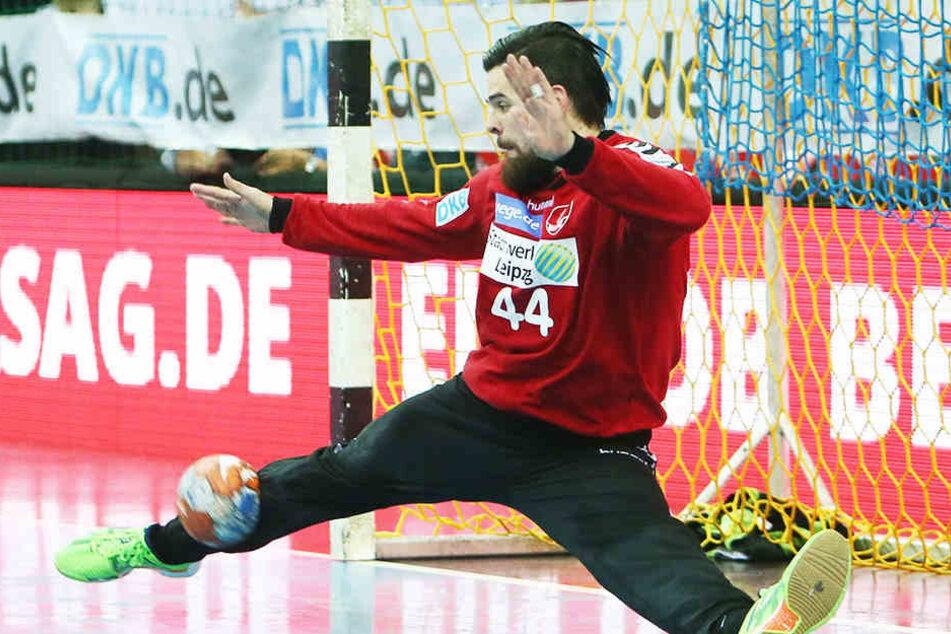Beim Spiel gegen Erlangen verletzte sich der Torwart des SC DHfK, fällt nun vorerst aus.