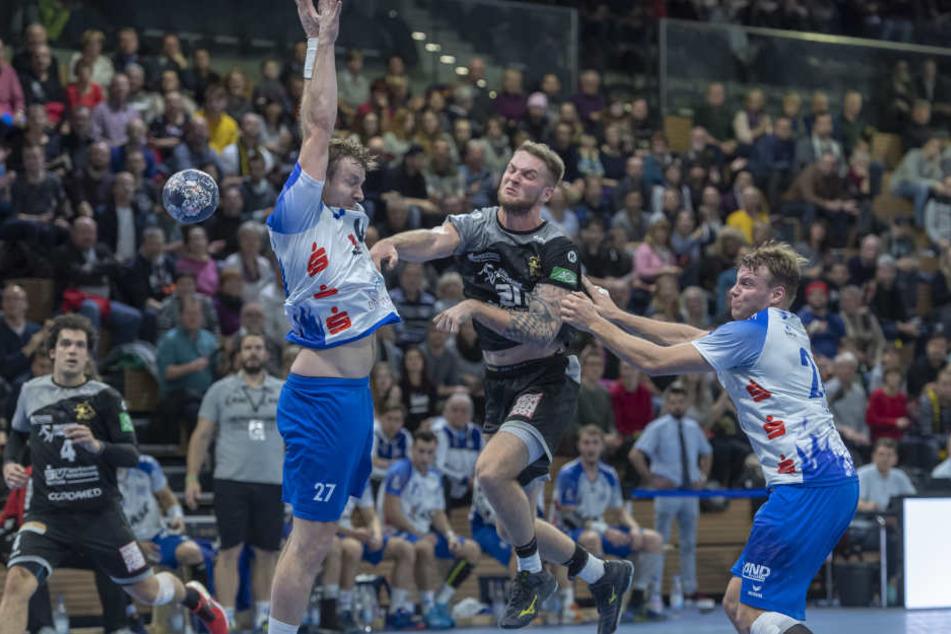 Durfte gegen seinen Ex-Verein einen Sieg feiern: HCE-Spieler Nils Kretschmer.