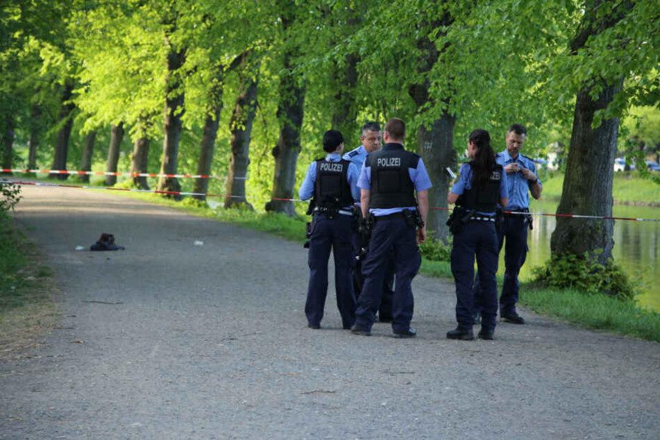 Tatort Clara-Zetkin-Park: Hier wurde die junge Frau niedergestochen. Messerstecher Sten P. (35) konnte von Passanten überwältigt werden.
