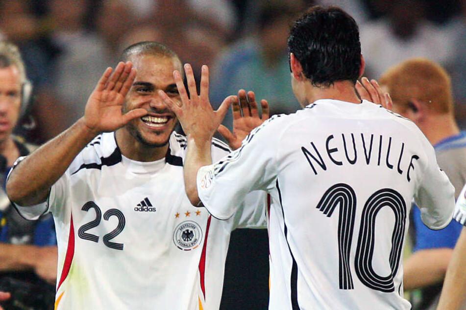 WM-2006: David Odonkor legte Oliver Neuville am 14.06.2006 das 1:0 gegen Polen auf.
