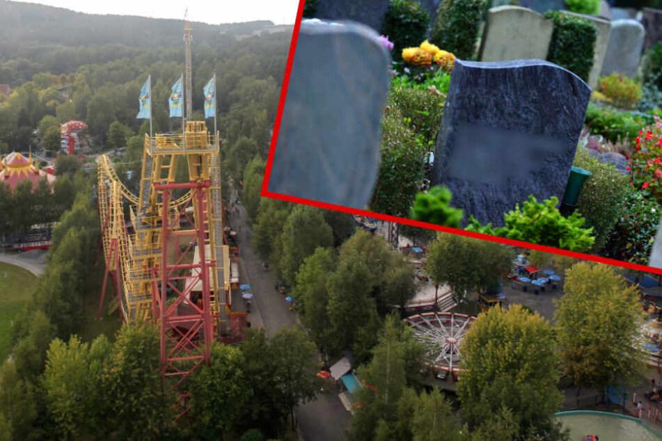 Ganz schön gruselig: Junge entdeckt Grabstein seines Opas in Freizeitpark!