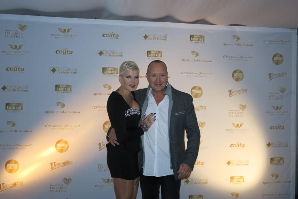 Melanie Müller mit ihrem Ehemann Mike Blümer.