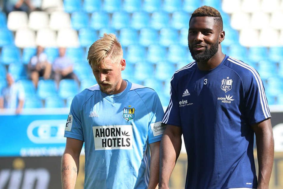 Hatten zuletzt schlechte Karten bei Trainer David Bergner: Björn Kluft (l.) und Emanuel Mbende.