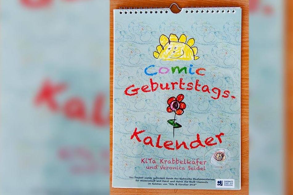 "Der Comic-Kunst-Kalender ist im Zuge des Projekts ""Kita & Künstler"" entstanden."