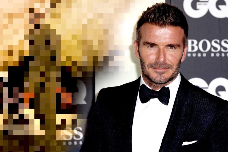 Hier posiert David Beckham ganz heimlich in Berlin