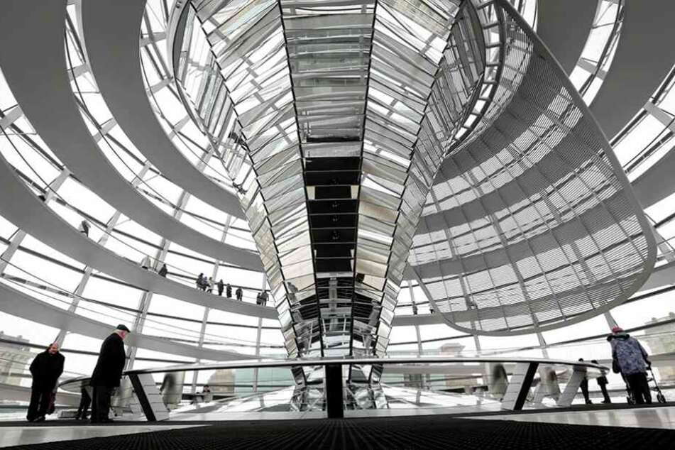Die Kuppel des Reichstags ist das beliebteste Wahrzeichen Deutschlands.