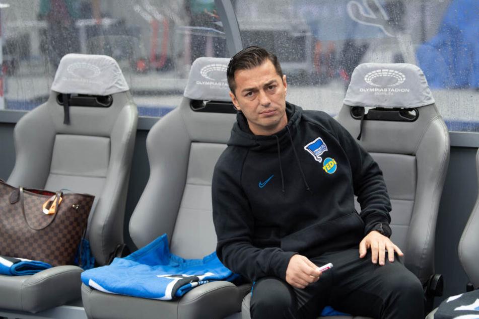 Ante Covic steht in der Kritik: Herthas Trainer muss um seinen Job bangen.