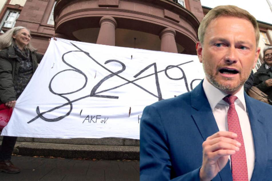 FDP-Chef Christian Lindner (39) buhlt in Sachen Paragraf 219a um die SPD.