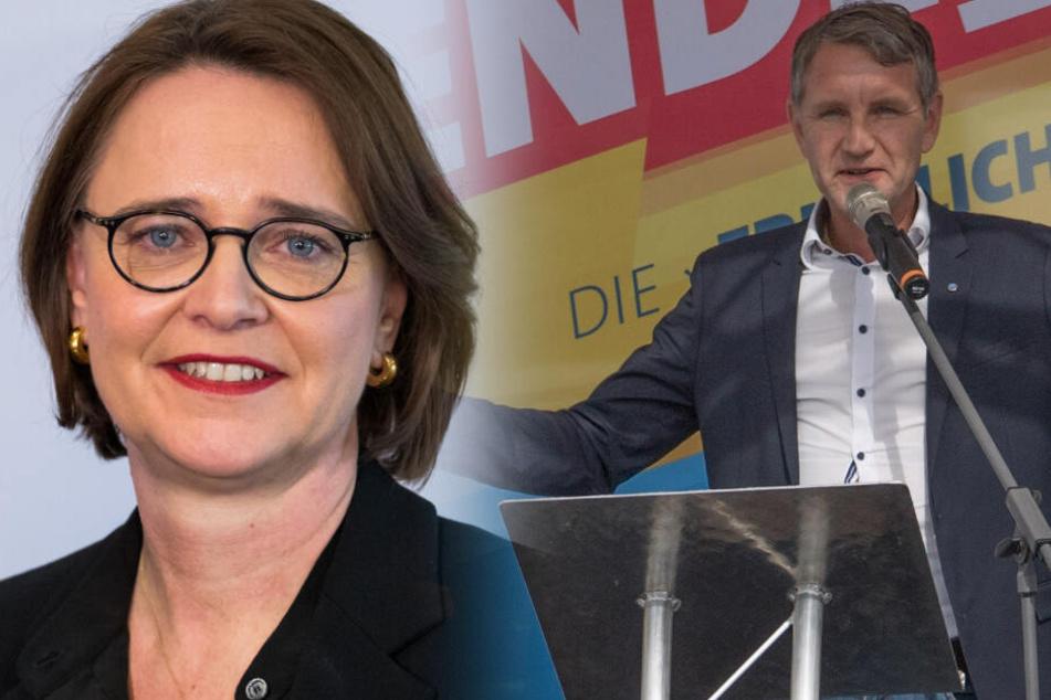 Die Integrationsbeauftragte Annette Widmen-Mauz hat vor einer Koalition mit der AfD gewarnt. (Bildmontage)