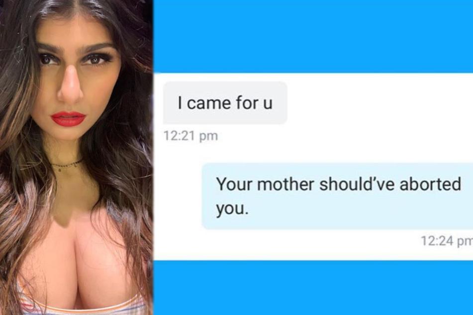 Mia Khalifa (27) teilt gegen einen Follower heftig aus.