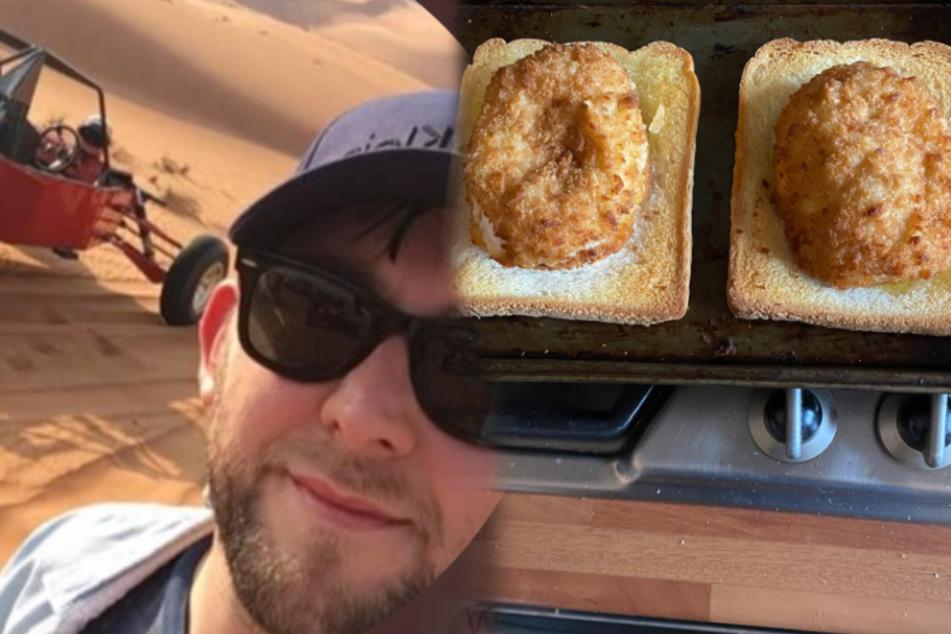Typ macht Kotelett im Backofen und legt es aufs Brot: Jetzt wird er im Netz als Genie gefeiert