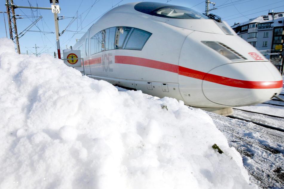 Zugverkehr in Mitteldeutschland wegen starker Schneefälle weitgehend eingestellt!