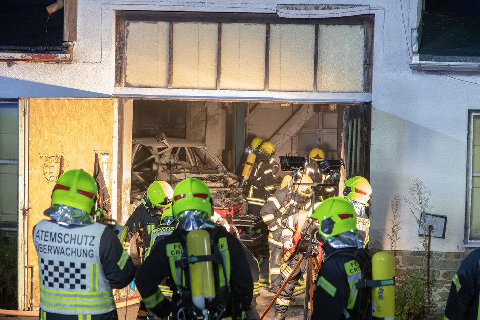 In Crottendorf brannte es am Samstagabend in einer Garage.
