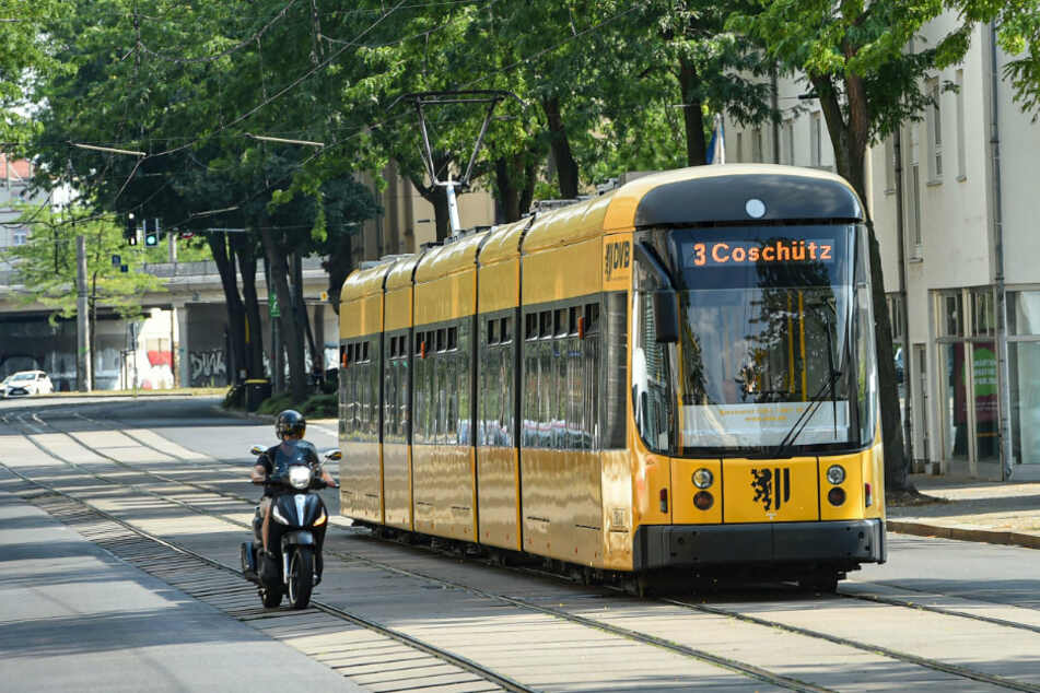 Großenhainer Straße: Hier werden Straße und Gleisanlage auf 800 Metern grundhaft saniert.