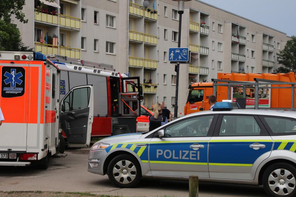 In Halle-Silberhöhe ist ein Mädchen (†5) von einem Müllauto überrollt worden. Es starb noch am Unfallort.