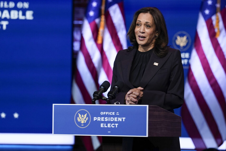 "Kamala Harris (56), die ""Gewählte Vizepräsidentin"" (Vicepresident-elect) der USA."
