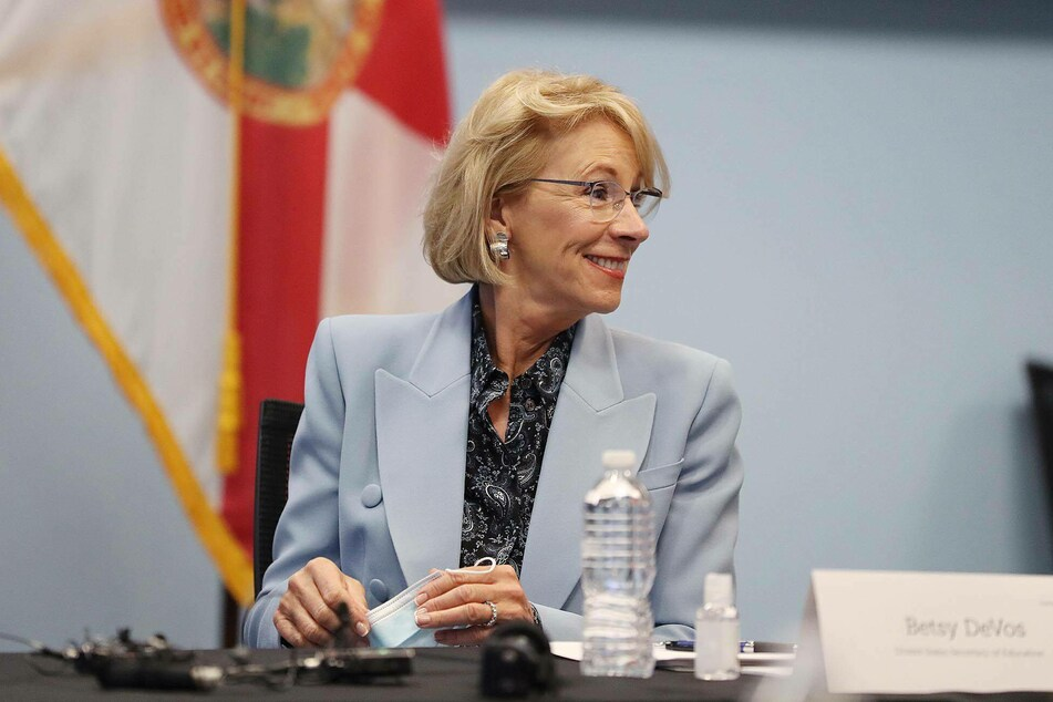 Education Secretary Betsy DeVos resigned as more Trump cabinet members and staff quit in the wake of Wednesday's shocking scenes.