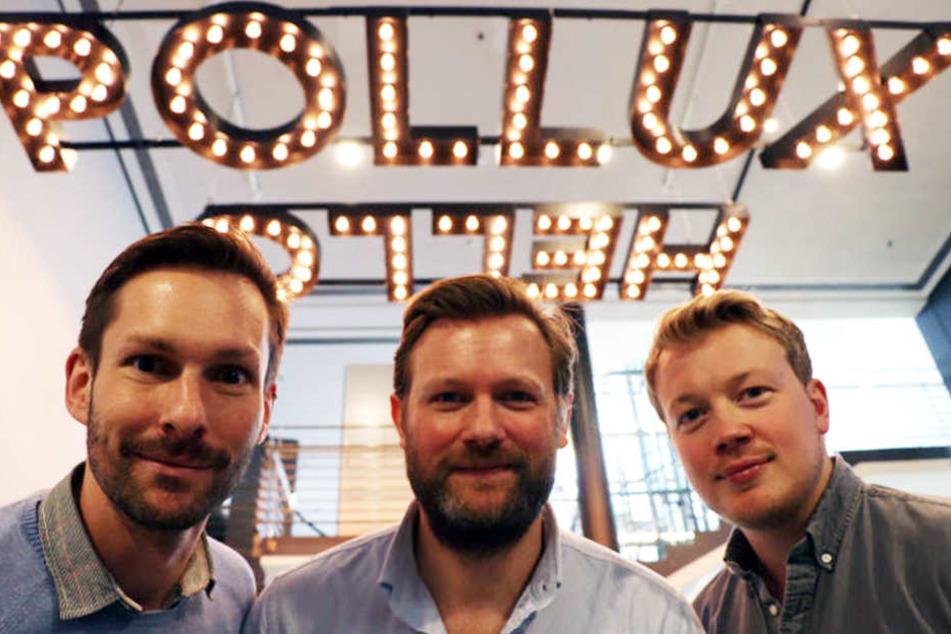 Thilo Pickartz (operative Leitung, links) und die beiden Esch-Brüder freuen sich über die Neueröffnung.