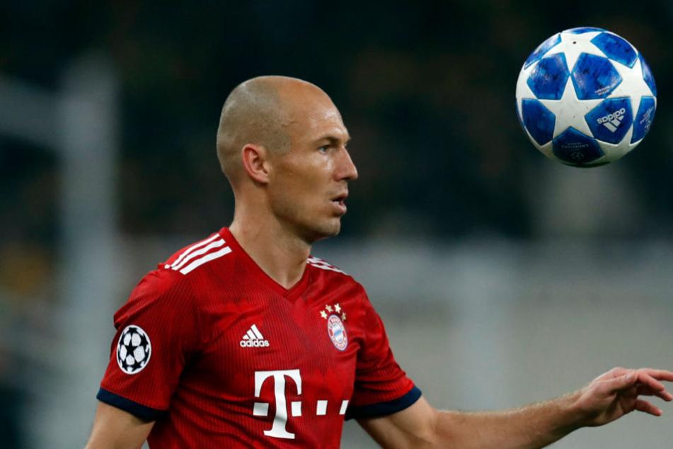 Arjen Robben fehlt dem FC Bayern in Amsterdam.