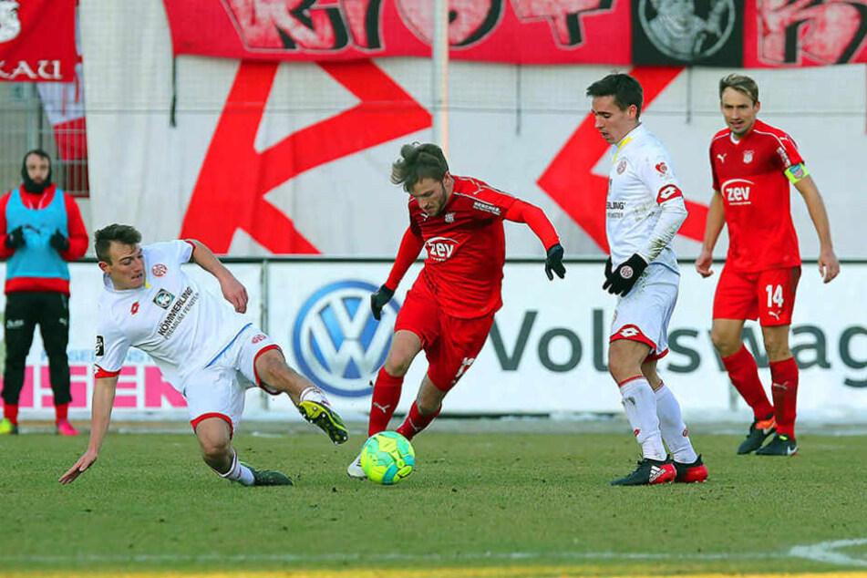 Der FSV Zwickau setzte sich gegen die U23 des 1. FSV Mainz 05 durch.
