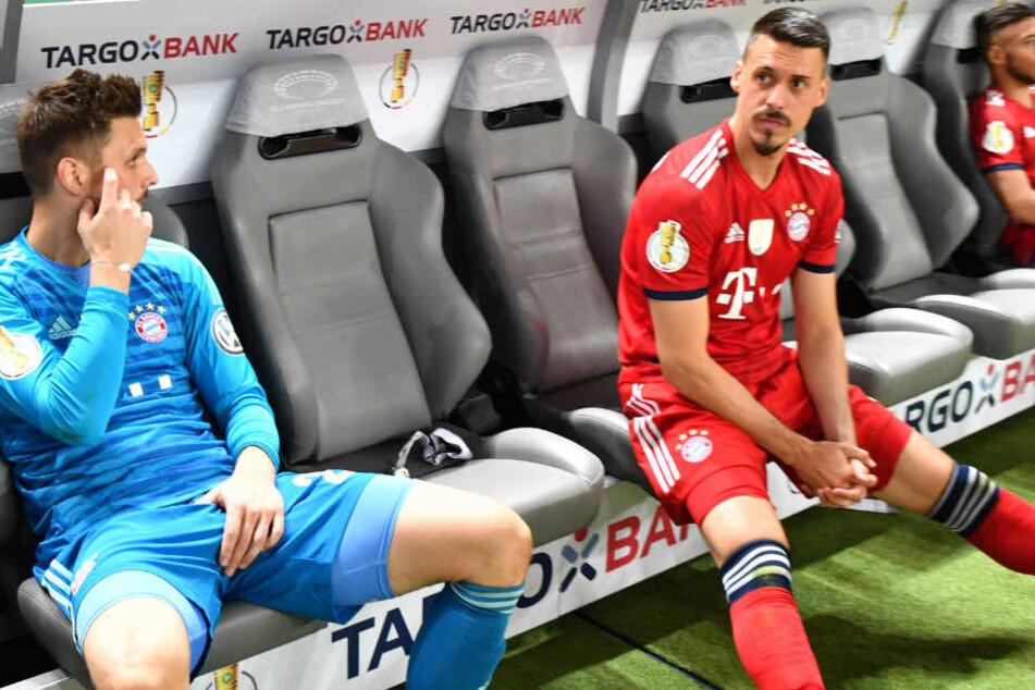 Sandro Wagner (r.) verlor mit dem FC Bayern München gegen Eintracht Frankfurt.