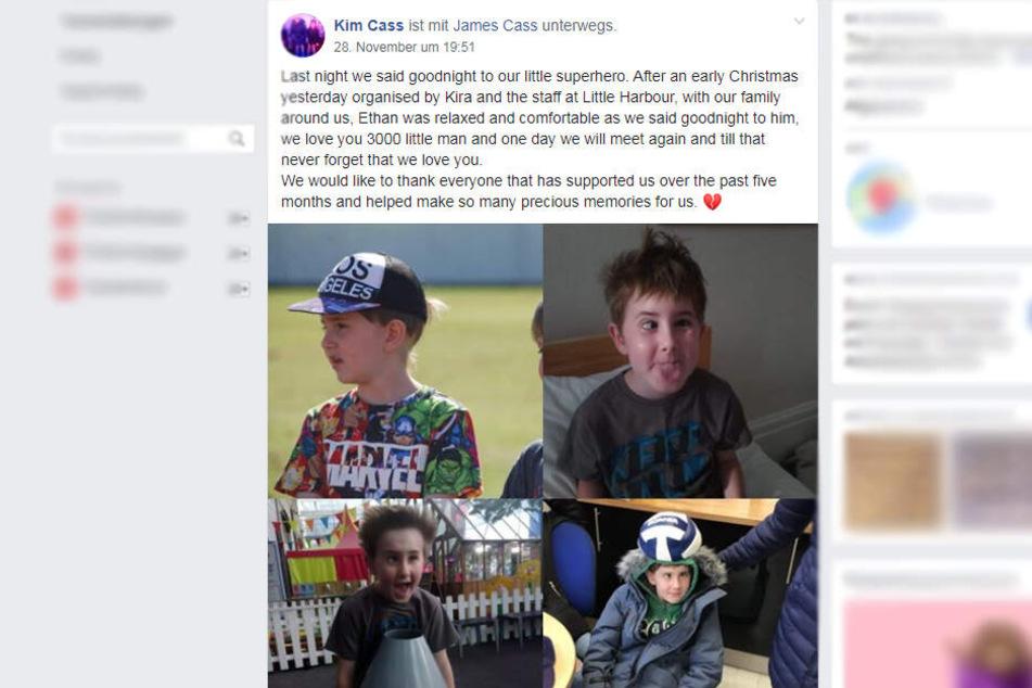 Auf Facebook verkündete die Mutter, dass ihr Sohn den Kampf gegen den Tumor verloren habe.