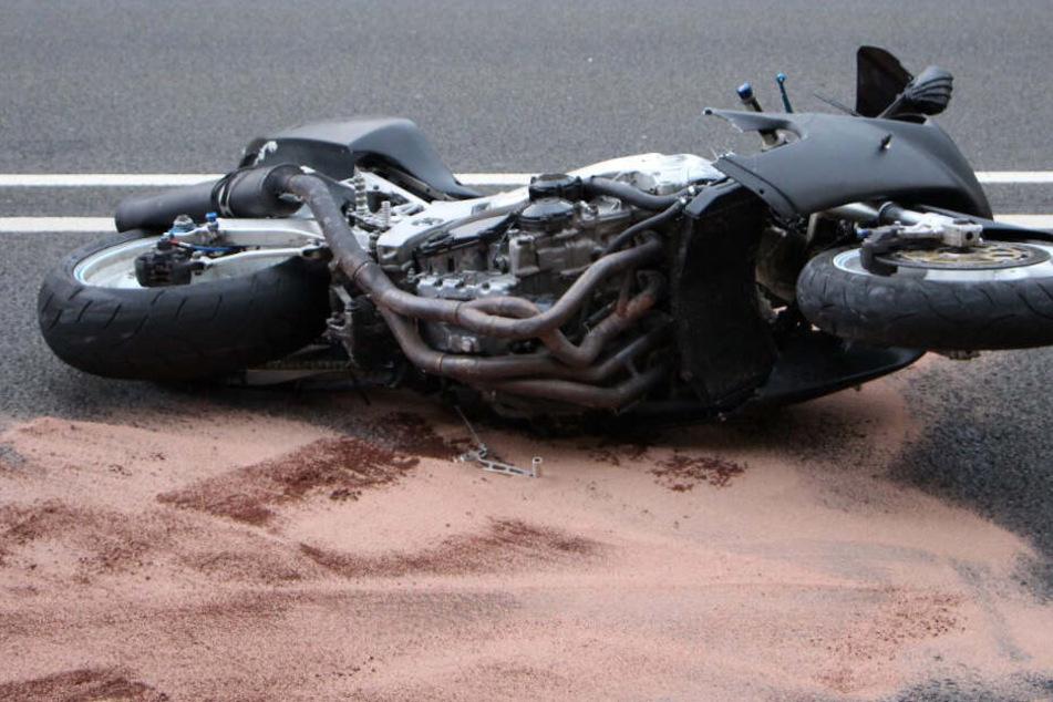 Das Motorrad der Marke Suzuki war nicht mehr zum Fahren zugelassen.