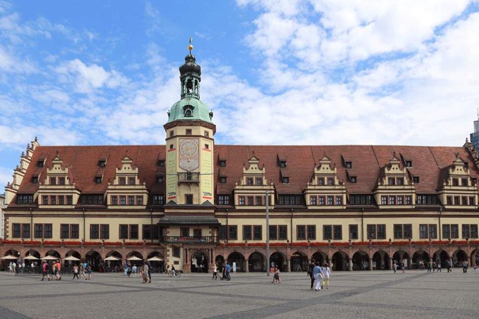 Das Alte Rathaus auf dem Leipziger Markt.