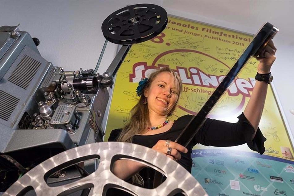 Medienpädagogin Antje Schönfeld (28) lädt zum Sommerkino und Film-Workshops ins Kinderfilmhaus (Neefestraße 99) ein.