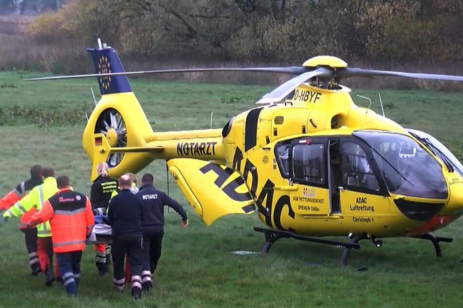 Ein schwerer Auffahrunfall hat sich am Dienstagmittag auf der B95 am Ortseingang Espenhain ereignet. Auch ein Hubschrauber war vor Ort. (Symbolbild)