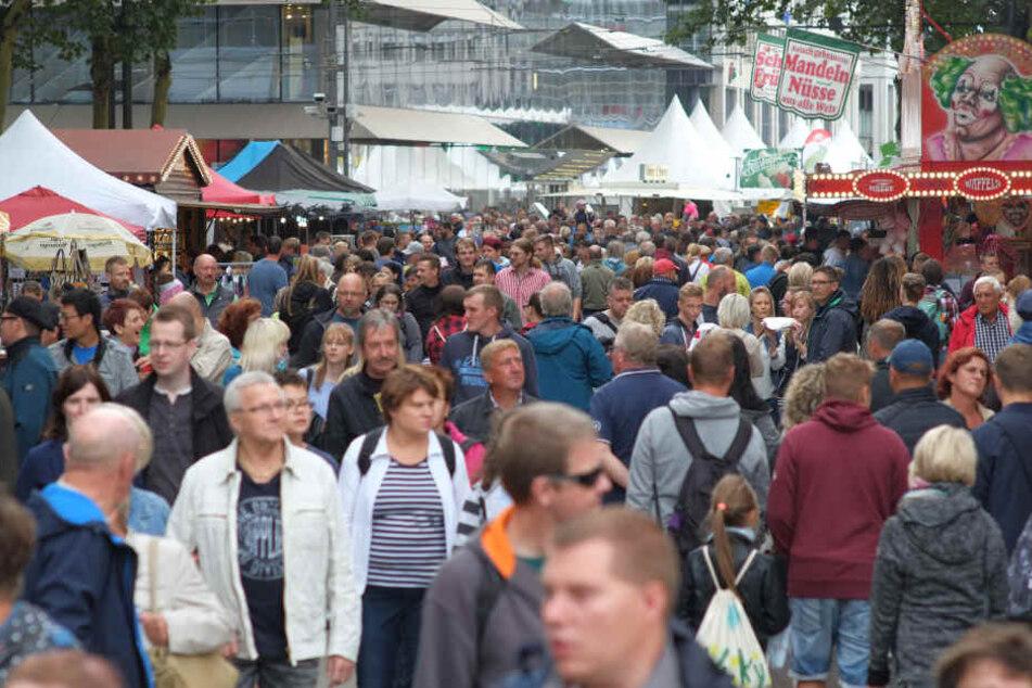 Das Stadtfest wurde am Sonntag vorzeitig beendet.