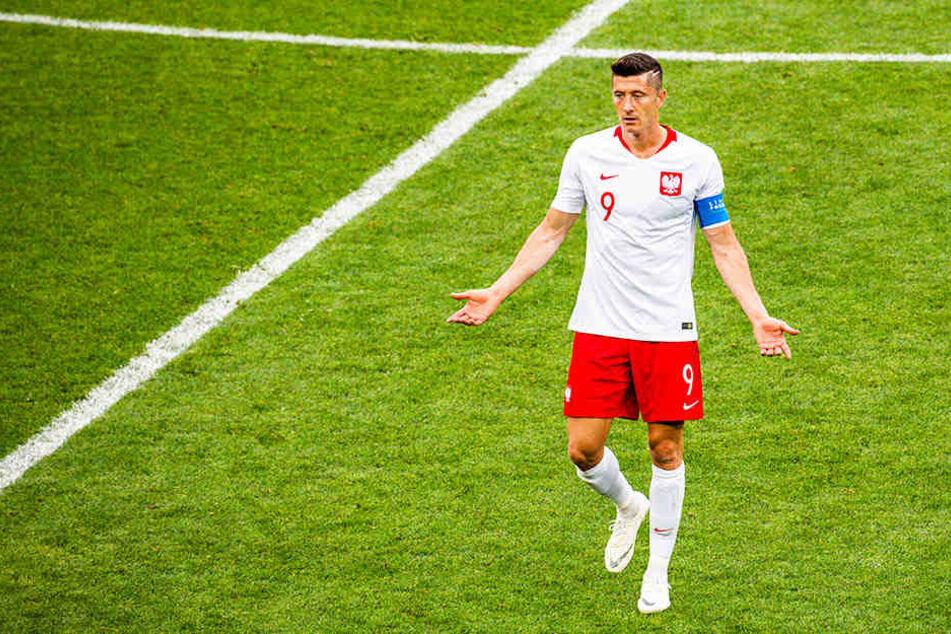 Was soll das? Robert Lewandowski wird in seiner polnischen Heimat scharf kritisiert - wie auch seine Teamkollegen.